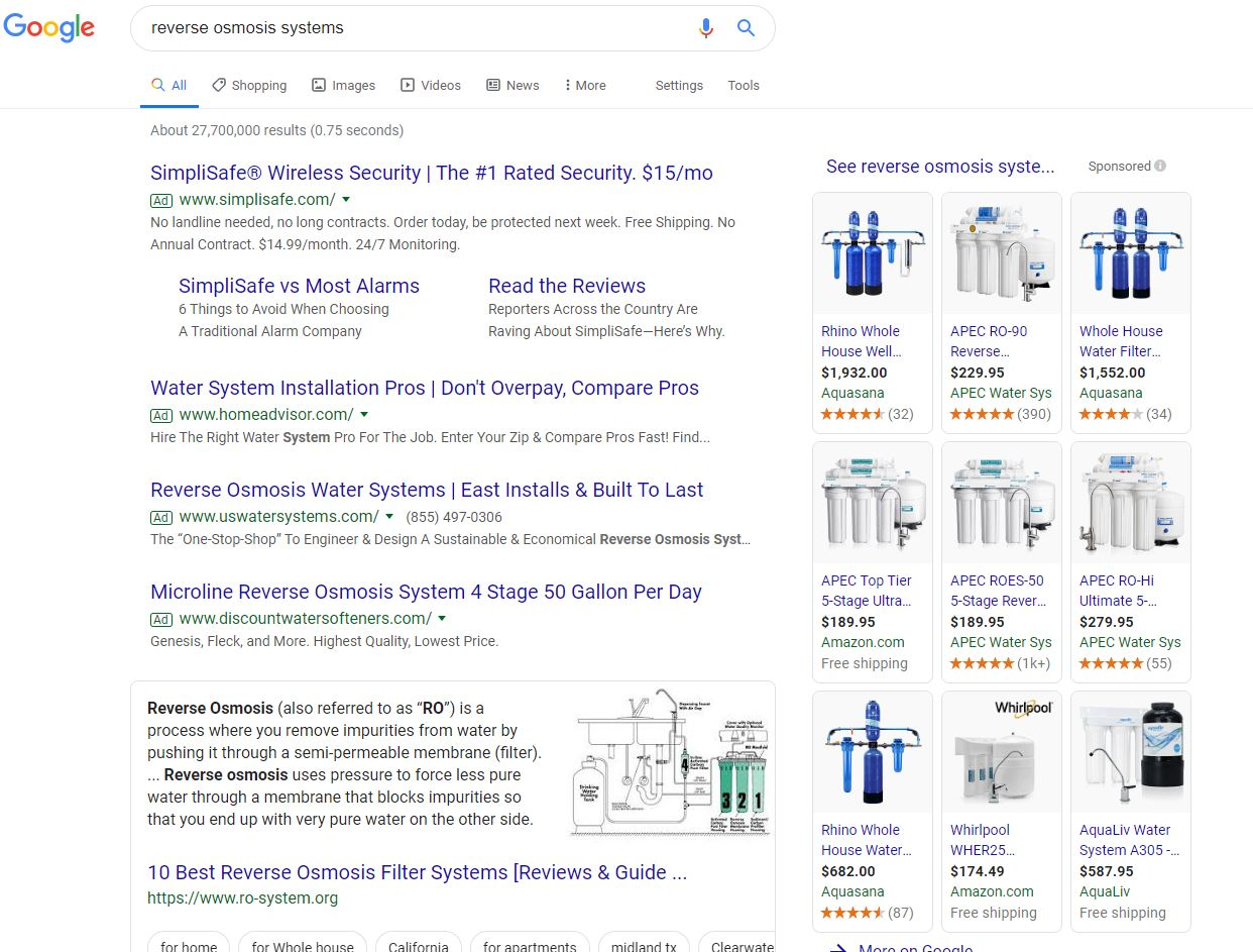 Reverse Osmosis Search Results