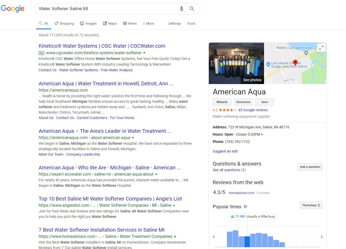 Local Water Softener Search Results