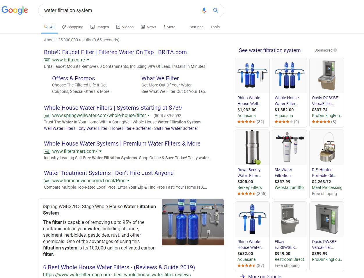 Water Filtration Search Results